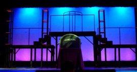the Evita set