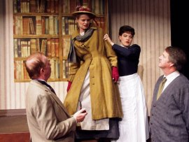 Harold Truitt, Jenny Winn, Erin Lounsberry, and Mark McGinn in My Fair Lady