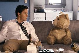 Mark Wahlberg and Seth MacFarlane in Ted