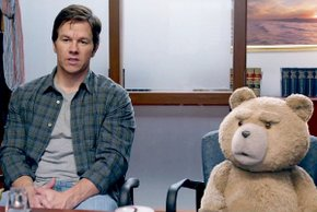 Mark Wahlberg and Seth MacFarlane-ish in Ted 2