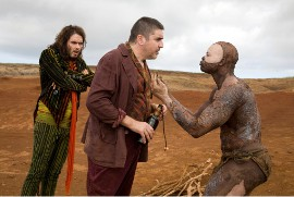 Russell Brand, Alfred Molina, and Djimon Hounsou in The Tempest