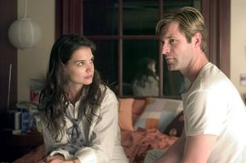 Katie Holmes and Aaron Eckhart in Thank You for Smoking