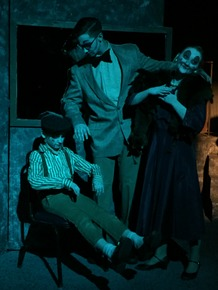 Brody-Tucker Ford, Sam Jones, and Brooke Schelly in The Pillowman