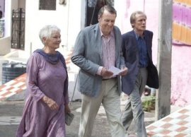 Judi Dench, Tom Wilkinson, and Bill Nighy in The Best Exotic Marigold Hotel