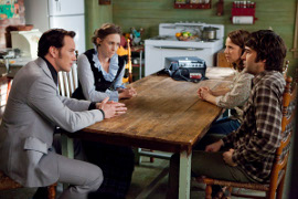 Patrick Wilson, Lili Taylor, Vera Farmiga, and Ron Livingston in The Conjuring
