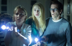 Radha Mitchell, Lucy Fry, and Kevin Bacon in The Darkness