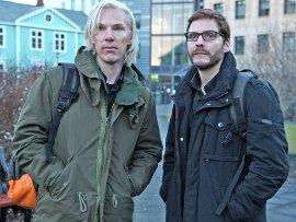 Benedict Cumberbatch and Daniel Bruhl in The Fifth Estate