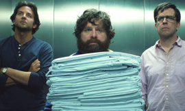 Bradley Cooper, Zach Gailianakis, and Ed Helms in The Hangover Part III