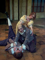 "Christine Barnes with Brian Cox and Brian Bengtson in ""The Miser"""