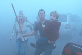Laurie Holden, Thomas Jane, and Nathan Gamble in The Mist
