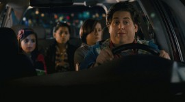 Landry Bender, Kevin Hernandez, Max Records, and Jonah Hill in The Sitter