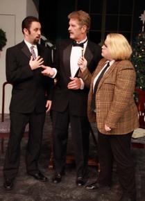 Drew Pastorek, Tom Naab, and Wendy Czekalski in The Game's Afoot