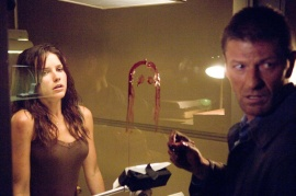 Sophia Bush and Sean Bean in The Hitcher