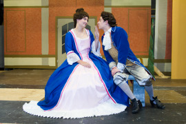 Leslie Kane and Joshua Pride in Figaro (photo by Daisy Hoang, Augustana Photo Bureau)