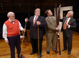 Stan Weimer, John VanDeWoestyne, Bryan Woods, and Spiro Bruskas in The Mousetrap
