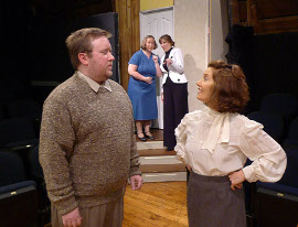 Bryan Woods, Sara Laufer, Heidi Pedersen, and Diane Greenwood in The Mousetrap
