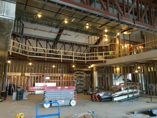2016 construction of the Brunner Theatre Center, photo by Kent Barnds