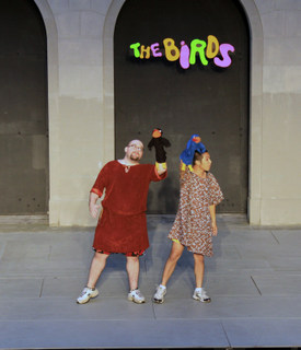 Doug Adkins and Calvin Vo in The Birds