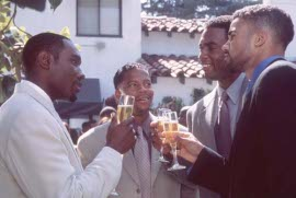 Morris Chestnut, D.L. Hughley, Bill Bellamy, and Shemar Moore in The Brothers