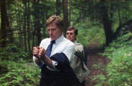 Robert Redford and Willem Dafoe in The Clearing