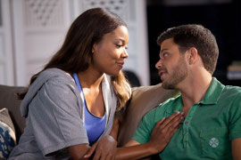 Gabrielle Union and Jerry Ferrara in Think Like a Man
