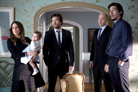 Tina Fey, Jason Bateman, Corey Stoll, and Adam Driver in This Is Where I Leave You