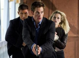 Tom Hardy, Chris Pine, and Reese Witherspoon in This Means War