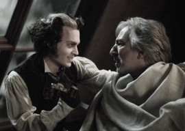 Johnny Depp and Alan Rickman in Sweeney Todd: The Demon Barber of Fleet Street