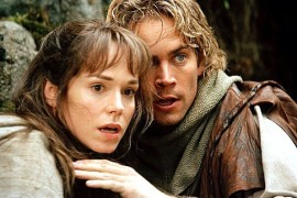 Frances O'Connor and Paul Walker in Timeline