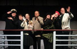 Byran Woods, Angela Rathman, Stephanie Moeller, Randy Pribyl, Mollie Schmelzer, Faith Hardacre, and Mike Kelly in Titanic Aftermath
