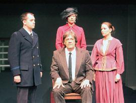 Josh Kahn, Pamela Crouch, Pat Flaherty, and Anastasiya Newkirk in Titanic Aftermath