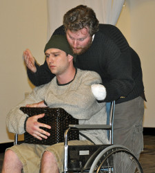 Cole McFarren and Aaron E. Sullivan in Titus Andronicus