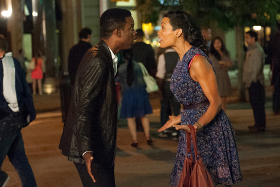 Rosario Dawson and Chris Rock in Top Five