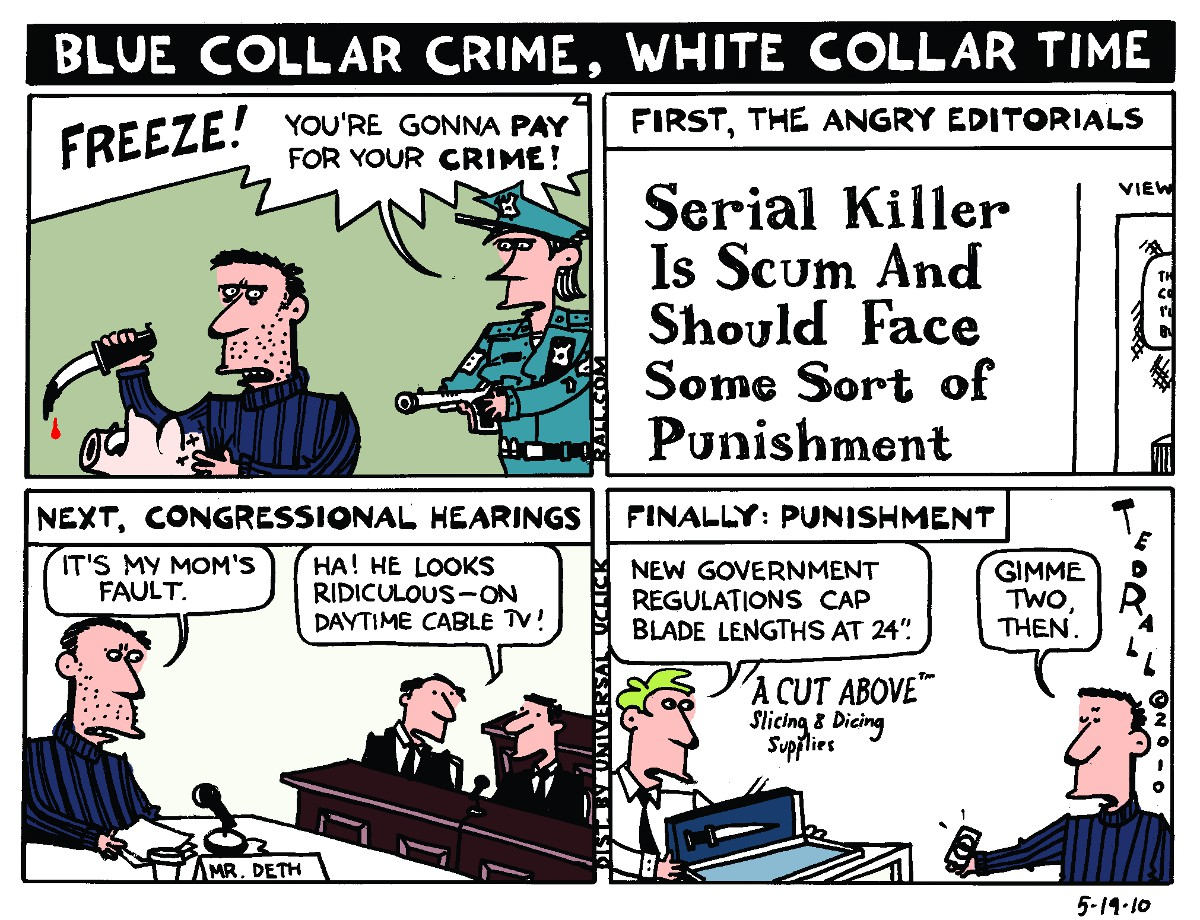 "white collar crime vs street crime White-collar criminals often avoid prison terms adam ""prosecutors really only look at white-collar crime as a often greater than a common street crime."