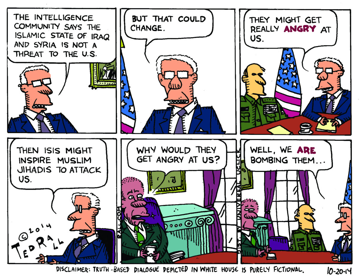 Ted Rall: Why Would They Get Angry at Us? | River Cities' Reader