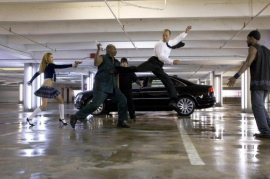 Jason Statham (airborne) in Transporter 3