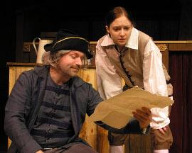 Tim Dominicus and Stephanie Moeller in Treasure Island