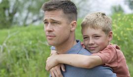 Brad Pitt and Tye Sheridan in The Tree of Life