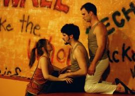 Stephanie Burrough, Steve Quartell, and Cole McFarren in Troilus & Cressida