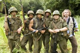 Jay Baruchel, Brandon T. Jackson, Ben Stiller, Robert Downey Jr., Jack Black, and Steve Coogan in Tropic Thunder
