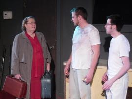 Eugenia Giebel, Eddie Staver III, and Andrew Harvey in True West