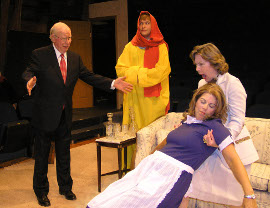 Dave Rash, Isaac Ritter, Faith Adams, and Jackie Patterson in A Turn for the Nurse