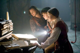 Ben Barnes, Skandar Keynes, and Georgie Henley in The Chronicles of Narnia: The Voyage of the Dawn Treader