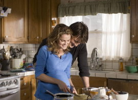 Kerri Russell and Nathan Fillion in Waitress