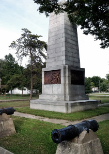 Campbell's Island war memorial. Photo by Bruce Walters.