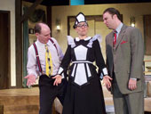 Tom Walljasper, Kimberly Furness, and Adam Michael Lewis in Don't Dress for Dinner