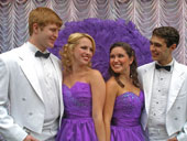 Tanner Bollinger, Jenny Guse, Jacqui Pugh, and Zack Powell in Irving Berlin's White Christmas