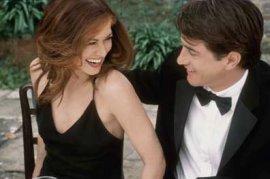 Debra Messing and Dermot Mulroney in The Wedding Date