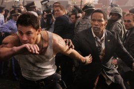 Channing Tatum and Jamie Foxx in White House Down