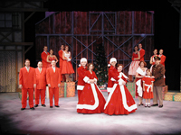 """Irving Berlin's White Christmas"" ensemble"